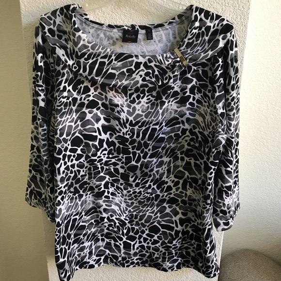 Rafaella Animal Print 3//4 Sleeve 100/% Cotton Jacket NWT Sz 1X 2X 3X